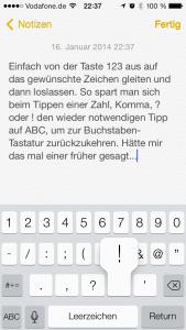 iOS 7 Tastatur